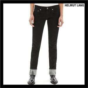 NEW HELMUT LANG BLACK LOW-WAISTED SKINNY JEANS